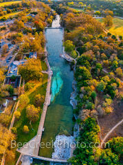 Aerial Barton Spring Pool Vertical