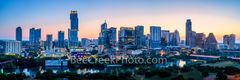 austin skyline, austin, sunrise, dawn,  austin texas, austin downtown, texas, austin tx, downtown austin, pano, panorama, city of austin, sunset, town lake, lady bird lake, river, high rise,