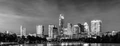 Austin Skyline in Black and White