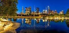 Austin Skyline Reflection Night