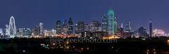 Dallas, skyline, Margaret Hunt Hill bridge, Omni, Bank of america, plaza,  Reunion Tower, Fountain Plaza, cityscape, cityscapes, iconic,  dark, downtown, high rise, images of dallas, night, panorama,