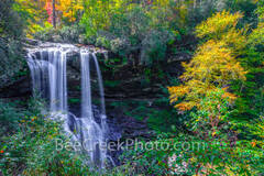 dry falls, waterfall, falls, stream, creek, flow, water falling, autumn, colors, smoky mountain, smokies, downstream, nature, natural,  north caroline, great smoky mountains, national scenic byway, na