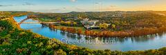 Fall Colors at Austin Pennybacker Bridge Pano