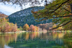 Garner State Park, Frio river, autumn, foliage, Texas landscape, texas hill country, fall, fall colors, Old Baldy, canvas, prints, Texas, landscape,