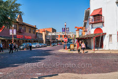 Fort Worth, Stockyards, street, scene, people, tourist, brick streets, western, historic district, longhorns, cattle, entertainment, cow town, cityscape, downtown, shopping, Riscky's steakhouse, Leddy