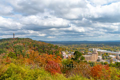 fall, Hot Spring, Arkansas, National Forest, hill side, moody, skies, everygreen, pines, orange, pink, sugar maples, red maples, yellow, black hickory, sweet gym,