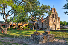 Mission Espada, San Antonio National Historical park, well, garden, trees, church, catholic,