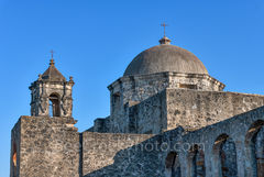 MIssion San Jose, dome, steeple, church, mission, architecture, San Antonio Missions National Historical Park,