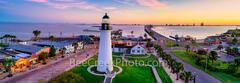 Port Isabel Lighthouse, sunrise, port isabel, landmark, historic, pano, panorama, city, lighthouse keepers cottage, coastal, south padre island, beach, coast, queen isabela causeway, bridge,