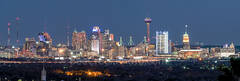 San Antonio Skyline, Night, picture of san antonio skyline,  san antonio skyline images, san antonio photos, san antonio pictures, San Antonio, Skyline, Frost Tower, Tower of America, Life Tower, Marr