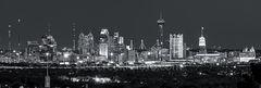 San Antonio Skyline, Night, Dark, black and white, bw,  night, San Antonio, Skyline, Frost Tower, Tower of America, Life Tower, Marriott, BBVA Compass Bank, downtown san antonio,