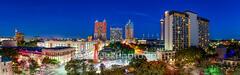 San Antonio Skyline Pano, riverwalk, San Antonio Skyline, Grand Hyatt, Hilton, Marriott, San Antonio, Tod Grubbs, Torch or Friendship, Tower of Americas, beecreekphotography, city, cityscape, cityscap
