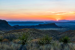 Big Bend National Park, Chihuahuan Desert, Santa Elena Canyon,  mountains, Mountains, Sierra Ponce, Sotol Vista Overlook, colorful, landscape, sky, sotol, sunset, yuccas, scenic, Texas, scenery, trave