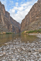 Santa Elena Canyon, Big bend national park, texas landscape, verticle, river rocks, blue sky, nice clouds, canyons, mountains, Mexic