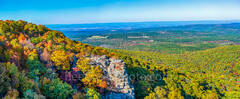 scenic, national forest, Ouachita, wilderness, fall, scenery, valley, limestone, arkansas, southern us, trees, maples, cedars, pines, hickory, distant views, aerial, pano, panorama, panoramic, fall sc
