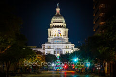 austin, capitol, texas capitol, capital, chistmas tree, christmas, city, downtown, light, holiday, congress ave, austin texas, downtown austin, city of austin,