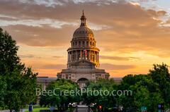 Texas Capitol Golden Sunrise