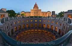 Texas Capitol Rotundra Dusk Pano