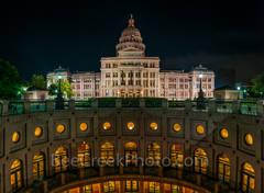 Texas Capitol Rotundra Pano Night