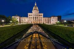 Texas Capitol Skylight View after Dark