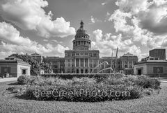 Texas State Capitol BW