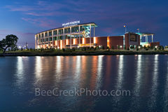Waco, sunset, McLane Stadium, Baylor University, dusk, blue hour, Baylor Bears, stadium , University of Baylor, school, Brazos river, water, reflections, clouds, color, pink,