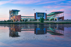 Waco McLane Stadium Dusk, Waco, McLane Stadium, Baylor University, dusk, blue hour, Baylor Bears,  stadium , University of Baylor, school, campus, Brazos river, Jack Kultgen Freeway, civic leader, spo