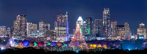 Austin, Christmas, Christmas season, Trail of lights Ausitn, Zilker Christmas tree, austin skyline, city, cityscape, cityscapes, downtown, holidays in Austin, images of austin, pano, panorama, photos,