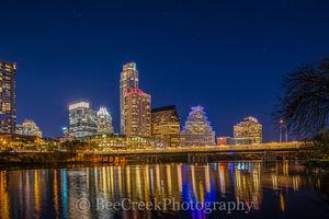 ustin skyline, Austin cityscape, austin, downtown, night, images of austin, austin cityscape, skyline, water, lady bird lake, city, dark, reflections, , austin skylines, austin cityscapes