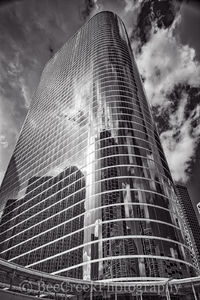 Chevron buildings, Houston skyline, architecture, black and white, buildings, city, city scene, cityscape, cityscapes, clouds, downtown, high rises, houston texas, mirrored, modern, skyline, skyscrape