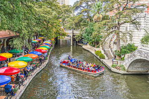 River Boat, River Walk, San Antonio, boat rides, city, cityscape, cityscapes, colorful umbrellas, downtown, hotels, outside dinning, restaurants, shopping