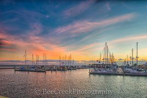 Corpus Christi sunrise, Sunrise, Texas Coast, bay, boats, city, coastal, colorful sky, docks, gulf, gulf of mexico, landscape, landscapes, marina, ocean, seascape, seawall