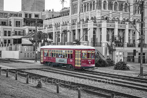 Street Car in New Orleans BW
