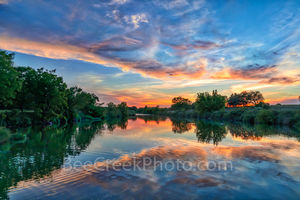 Texas Hill Country Sunset, Texas Hill country, sunset, Pedernales river, landscape, water, river, trees, rurals, Colorado river, centrral texas, hill country, Texas. rural,LBJ Ranch, Johnson City,