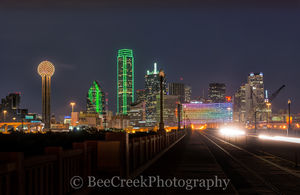 Dallas Cityscape View Night