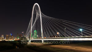 Margaret Hunt Hill Bridge, bridge, Dallas, skyline, Dallas Texas, Dallas skyline, images of dallas, photos of dallas, night,