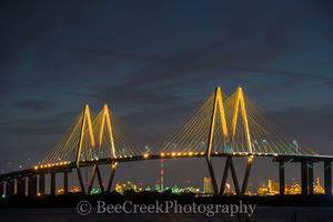 Baytown, Fred Hartmen bridge, Harris County, Houston, cable stay bridge, golden, lit, night, oil, refinery, ship channel