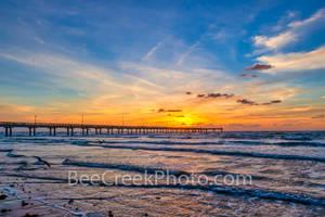 Port A, Port Aransas, Sunrise, Texas Coast, Texas, beach, coast, coastal, fishing, pier, gulf of mexico, mustang island, landscape, nature, ocean, sand, seascape, surf, texas beaches, wave, gulf coast