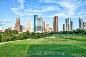 Houston, skyline, cities, city, citycapes, cityscape, downtown, exercise, fall, landscape, modern, park,  urban, views, walking