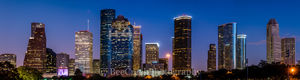 Houston, skyline, cityscape, high rise, skyscrapers, city, downtown, twilight, night,