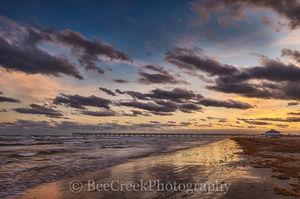 Port A, Port Aransas, Texas Coast, Texas beach, beach, coast, fishing pier, ocean, sea weed, seascape, sunset, surf, landscape, texas landscape,