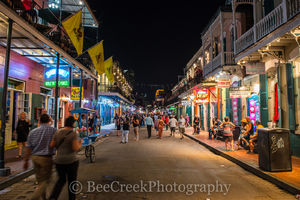 Night life Bourbon Street