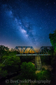 milky way, Fine Art, , Night Stars,   railroad bridge, astronomy photography, celestial, dark skies, galaxy,  galaxyies,  bridge, landscape, light pollution, milkway over texas railroad bridge, texas