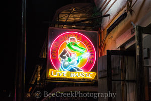 Bourbon Street, French Quarter, New Orleans, bars, live music, neon, neon signs, restaurants, signs