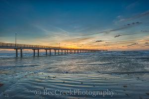 Port A, Port Aransas, Sunrise, Texas Coast, Texas beach, beach, coast, coastal, fishing pier, ocean, sea, sea weed, seascape, surf