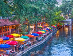 River Walk in San Antonio , Casa Rio, River Boat, River Walk, Riverwalk, San Antonio, boat rides, city, cityscape, cityscapes, colorful umbrellas, destinations, downtown, drinks, food, h