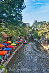 Casa Rio, River Boat, River Walk, Riverwalk, San Antonio, boat rides, city, cityscape, cityscapes, colorful umbrellas, destinations, downtown, drinks, food, hotels, outside dinning, restaurants, shopp