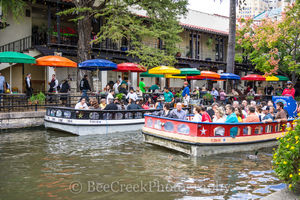 River Boat, River Walk, San Antonio, city, downtown
