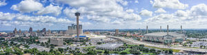 Alamo Dome, Grand Hyatt, Marriot, San Antonio, Tower Life high-rise, Tower of Americas, UT SA, aerial, bank of america, city, cityscape, cityscapes, downtown, skyline, skylines, aerial, drone,  urban,