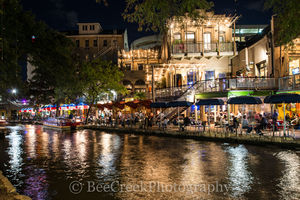 Rio Rio, River Walk, SA, San Antonio, city, cityscape, cityscapes, dark, downtown, night, restaurant, tourist, water front
